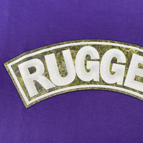 """【残り僅か】RUGGED """"SUPER HIGH GRADE"""" tee (Purple)"""