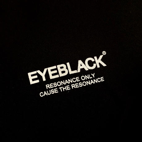 "【残り僅か】EYE BLACK ""LOGO"" pullover parka (Black/12.4oz)"