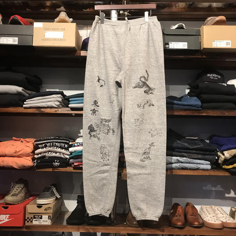 "RUGGED on vintage ""JAPAN ANIMAL"" sweat pants (Gray)"