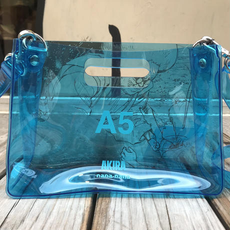 【残り僅か】AKIRA Art of Wall x nana-nana A5 Clear Bag (Blue)