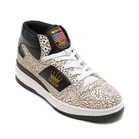 "【残り僅か】TROOP ""PRO EDITION""MID (White/PBlack/Gold)"