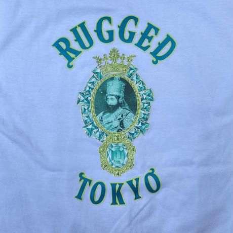 """【残り僅か】RUGGED """"JAH EMERALD"""" tee (White)"""