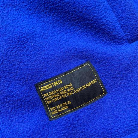 """【残り僅か】RUGGED """"rugged®️"""" tag fleece jacket (Blue)"""