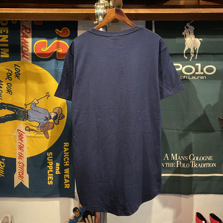 """【web限定】RUGGED """"SMALL ARCH""""  roundtail tee (Navy)"""