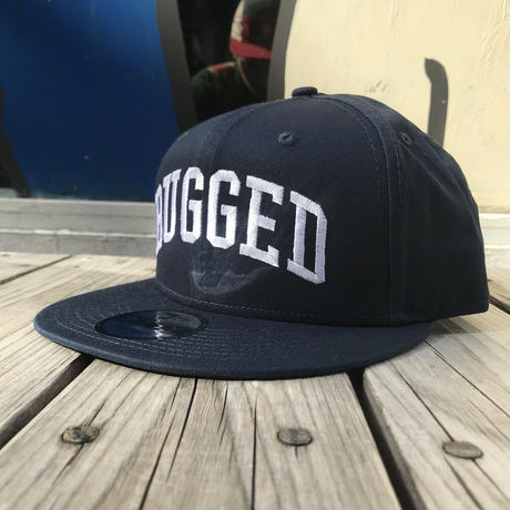 "RUGGED on Newera ""ARCH LOGO"" snapback (Navy)"