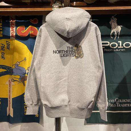 """【ラス1】RUGGED """"THE NORTHERN LIGHTS"""" reverse weave sweat hoodie (Gray/12.0oz)"""