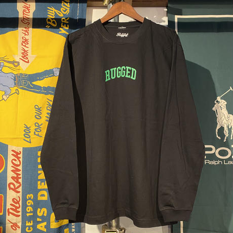"""RUGGED """"SMALL ARCH"""" L/S tee (Black)"""
