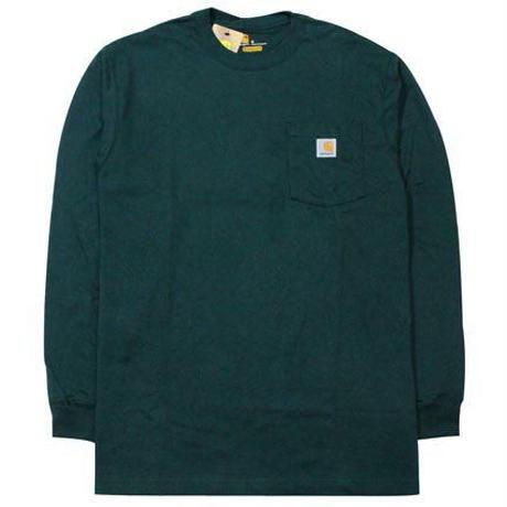 【残り僅か】Carhartt L/S pocket tee (Dark Green)