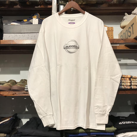 "【残り僅か】RUGGED ""GONE"" L/S tee  (White/Silver)"