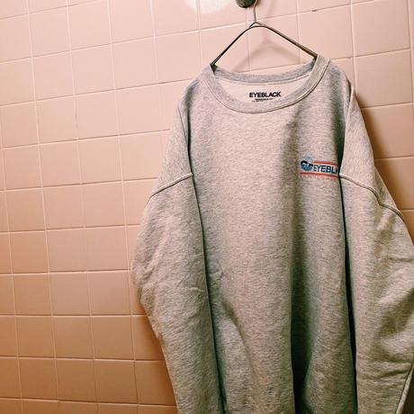 "【web限定/ラス1】EYE BLACK ""EYEBLK ENT"" crewneck sweatshirt (Ash Gray)"