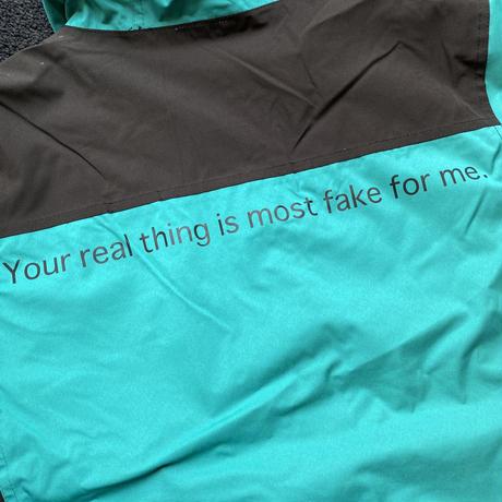 """【残り僅か】RUGGED """"real/fake""""nylon mountain parka (Tarquoise)"""
