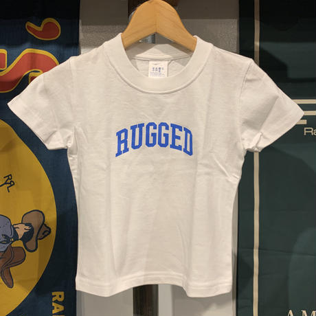 """【WEB限定】RUGGED """"SMALL ARCH"""" kids tee (White/Blue)"""