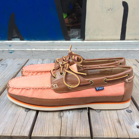 【ラス1】POLO RALRH LAUREN BIENNE CANOE(Orange)