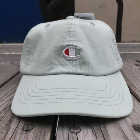 "【ラス1】Champion ""C"" logo stripe adjuster cap (Light Blue)"