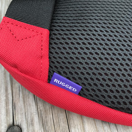 "【ラス1】RUGGED ""rugged®️"" waist pouch (Red)"