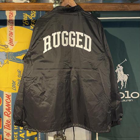 """RUGGED """"ARCH LOGO """" coach jacket (Black)"""