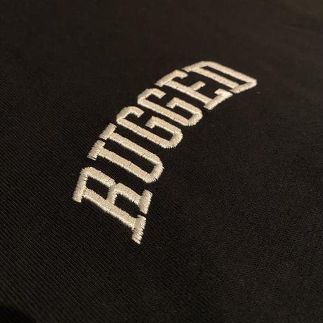 """【残り僅か】RUGGED """"SMALL ARCH"""" embroidery L/S tee (Black)"""