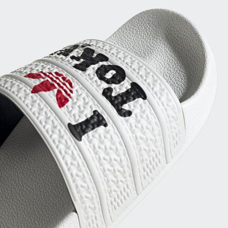 """【残り僅か】adidas """"Tokyo"""" adilette slides (White)"""