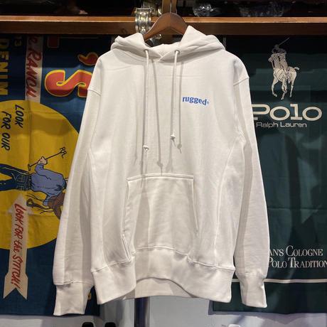 """【ラス1】RUGGED """"NEPTUNE"""" reverse weave hoodie (White/12.0oz)"""