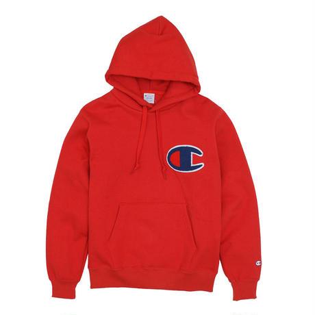 """【残り僅か】Champion """"Big C logo"""" hoodie (Red)"""