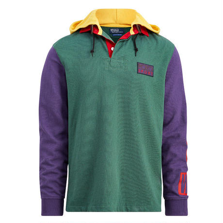 "【Exclusive】POLO RALPH LAUREN ""SNOW BEACH "" HOODED RUGBY SHIRT"