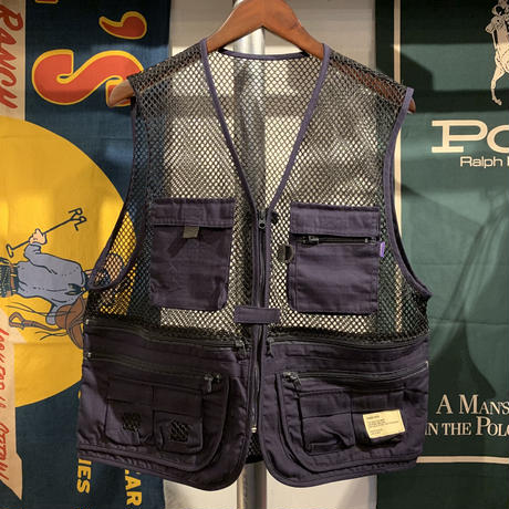 【残り僅か】RUGGED mesh vest (Navy)