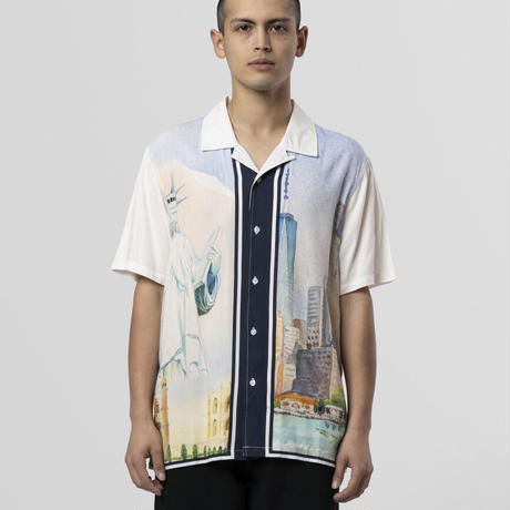 "【残り僅か】HUF ""PRESTIGE"" S/S RESORT SHIRT (White)"