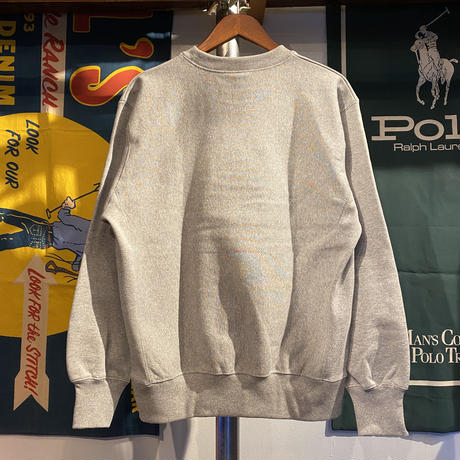 "【ラス1】RUGGED ""POLO2-D2"" reverse weave sweat (Gray/12.0oz.)"