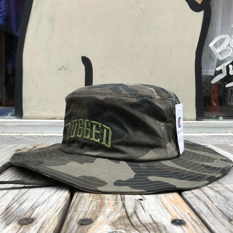 "【残り僅か】RUGGED on Champion ""ARCH LOGO"" adventure hat (Camo)"