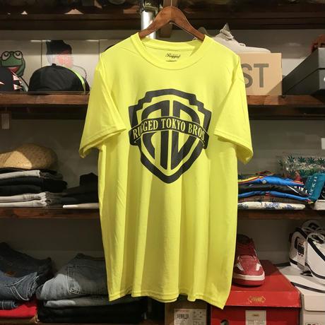 """【ラス1】RUGGED """"RUGGED TOKYO BROS."""" tee  (Neon Yellow)"""