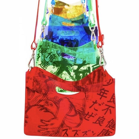 AKIRA Art of Wall x nana-nana A4 Clear Bag (Green)