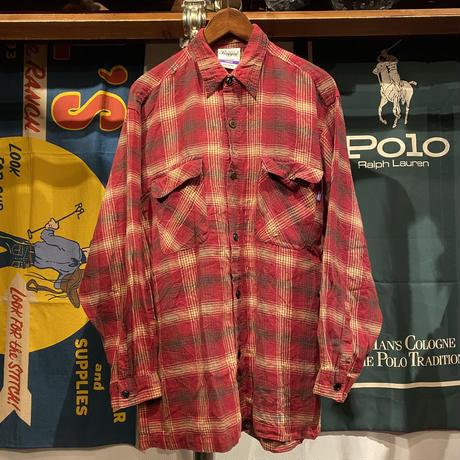 RUGGED on Vintage pocket check shirt (L)
