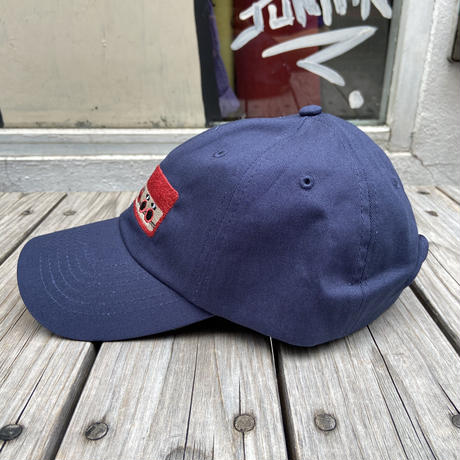 "【ラス1】RUGGED ""上上下下左右左右BA"" adjuster cap (Navy)"