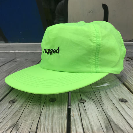 "【残り僅か】RUGGED ""rugged®︎""  nylon cap (Neon Yellow)"