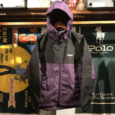 "【ラス1】RUGGED ""Real/Fake"" nylon shell parka (Purple)"