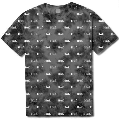 【残り僅か】HUF DOMESTIC CRISTAL WASH TEE (BLACK)