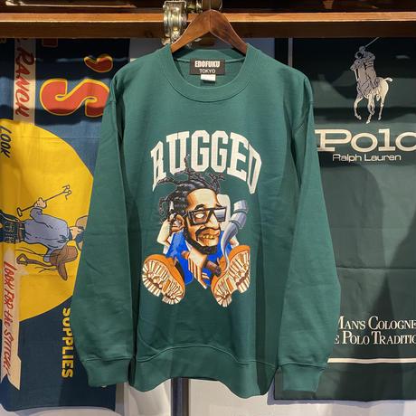 """【ラス1】RUGGED × EDOFUKU """"CHAMBERS"""" sweat (Green)"""
