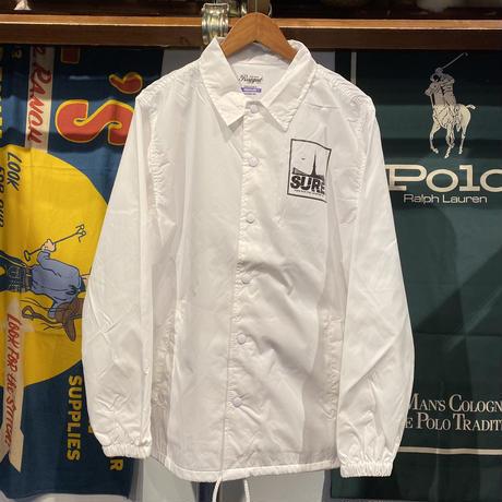 "RUGGED ""SURE"" coach jacket (White)"