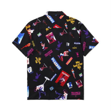 【WEB限定/残り僅か】HUF × PLAYBOY COLLAGE S/S WOVEN TOP