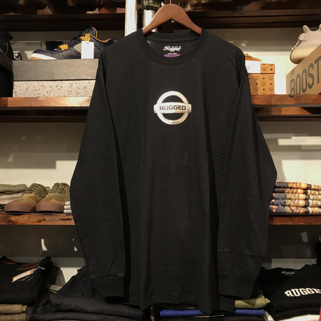 "【残り僅か】RUGGED ""GONE"" L/S tee  (Black/Metallic)"