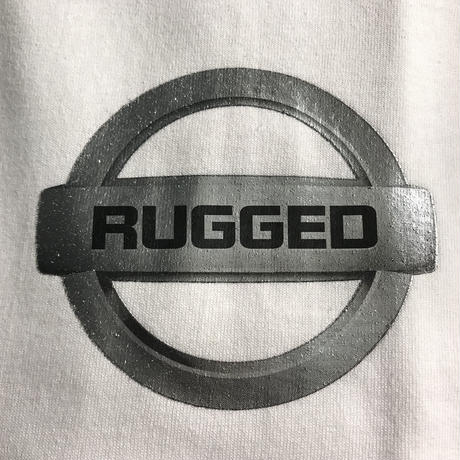 "【残り僅か】RUGGED ""GONE"" L/S tee  (White/Metallic)"