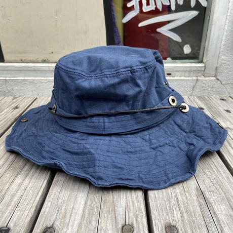 "【残り僅か】RUGGED ""rugged®︎"" logo string bucket hat (Blue)"