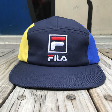 【残り僅か】FILA 5panel adjuster cap (Navy)