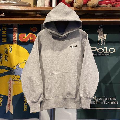 """【残り僅か】RUGGED """"GANJA & ROSES"""" reverse weave sweat hoodie (Gray/12.0oz)"""