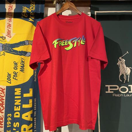 """【残り僅か】RUGGED """"FreeStyle"""" tee (Red)"""