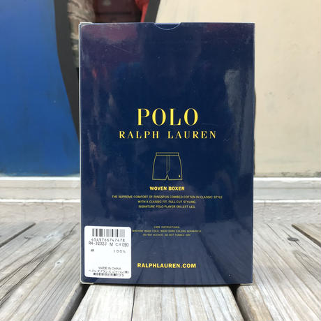 【残り僅か】POLO RALPH LAUREN  small pony dot woven boxer pants(Black)