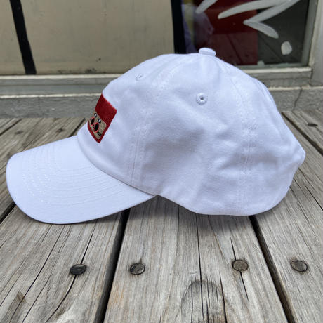 "RUGGED ""上上下下左右左右BA"" adjuster cap (White)"