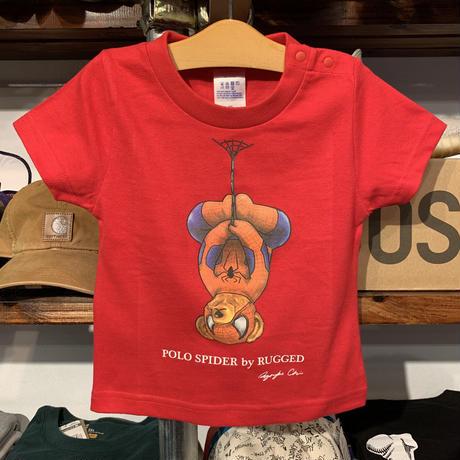 """【ラス1】RUGGED """"POLO SPIDER"""" kids tee (Red)"""
