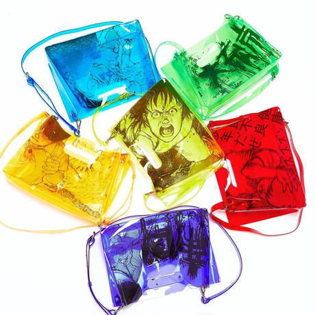 【残り僅か】AKIRA Art of Wall x nana-nana A5 Clear Bag (Red)