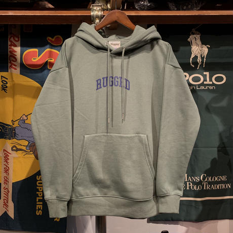 """【残り僅か】RUGGED """"SMALL ARCH"""" sweat hoodie  (Forest Green)"""